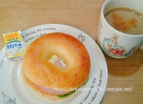 strawberry-nikki.seesaa.net エンシュアとベーグルの朝ごはん.jpg